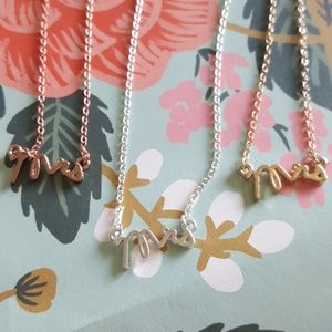 Nwot MRS dainty bride gift necklace bridesmaid